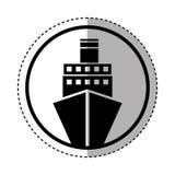 Isolerad symbol för kryssning fartyg royaltyfri illustrationer