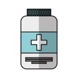 isolerad symbol för medicin flaska vektor illustrationer
