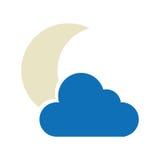 Isolerad symbol för natt molnigt väder royaltyfri illustrationer