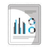 isolerad symbol för pappers- dokument kontor vektor illustrationer