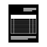 isolerad symbol för pappers- dokument kontor royaltyfri illustrationer