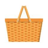 Isolerad symbol för picknick korg stock illustrationer