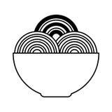 isolerad symbol för spaguetti maträtt Fotografering för Bildbyråer