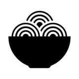isolerad symbol för spaguetti maträtt Arkivfoton