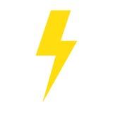 Isolerad symbol för storm elkraft vektor illustrationer