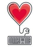 Isolerad symbol för tangentbord dator Royaltyfria Foton