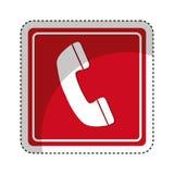 isolerad symbol för telefon tecken royaltyfri illustrationer