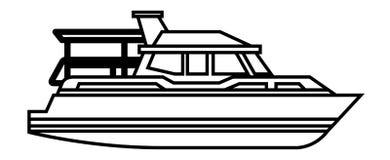 Isolerad symbol för yacht skepp stock illustrationer