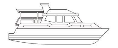 Isolerad symbol f?r yacht skepp vektor illustrationer