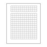 Isolerad symbol för affärsdokument ark Arkivfoto