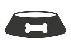 isolerad symbolsdesign för hund maträtt Arkivbilder