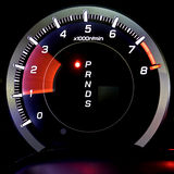 isolerad tachometer Royaltyfri Fotografi