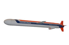 Isolerad taktisk missil för tomahawk Royaltyfri Foto