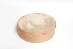 isolerad tamburin Arkivbild
