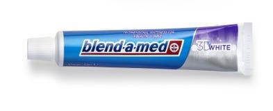 Isolerad tandkräm Blandning-EN-Med Fotografering för Bildbyråer