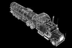 Isolerad tankbil Arkivbilder