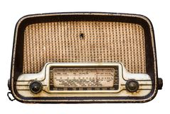 Isolerad tappningradiouppsättning Arkivfoton