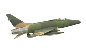 Isolerad tappningstrålkämpe-bombplan. Royaltyfri Fotografi