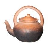 Isolerad Teapot Arkivfoto