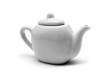 isolerad teapotwhite arkivbilder