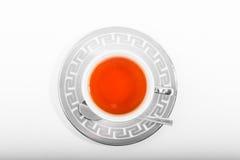 isolerad teawhite för bakgrund kopp Arkivfoton