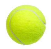 Isolerad tennisboll arkivfoton