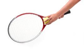 Isolerad tennisspelare Fotografering för Bildbyråer