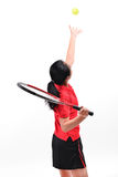 Isolerad tennisspelare Royaltyfri Foto