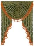 Isolerad textilgardin Arkivbild