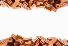 isolerad texturvägg för tegelsten brown Royaltyfri Foto