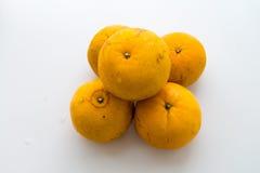 Isolerad thailändsk orange frukt Royaltyfri Bild