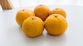 Isolerad thailändsk orange frukt Royaltyfria Foton