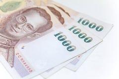 Isolerad thailändsk valuta i bakgrund och Royaltyfri Foto
