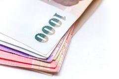 Isolerad thailändsk valuta i bakgrund och Royaltyfri Fotografi