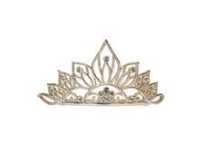 isolerad tiara för krona diadem Royaltyfri Fotografi