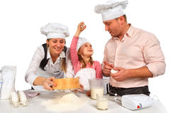 isolerad tillsammans white för matlagning familj Arkivfoto