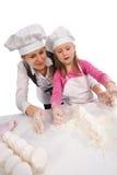 isolerad tillsammans white för matlagning familj Royaltyfria Foton