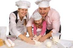 isolerad tillsammans white för matlagning familj Royaltyfria Bilder
