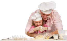 isolerad tillsammans white för matlagning familj Arkivbild