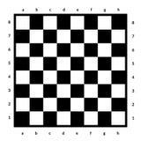 Isolerad tom schackbräde Bräde för schack eller kontrollörlek Modigt begrepp för strategi sikt för perspektiv för bild för bakgru Arkivfoto