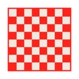 Isolerad tom schackbräde Bräde för schack eller kontrollörlek Modigt begrepp för strategi sikt för perspektiv för bild för bakgru Royaltyfria Foton