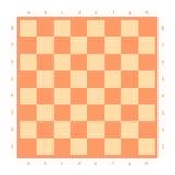 Isolerad tom schackbräde Bräde för schack eller kontrollörlek Modigt begrepp för strategi sikt för perspektiv för bild för bakgru Royaltyfri Bild