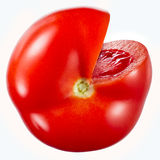 isolerad tomatwhite Med den snabba banan Royaltyfri Bild