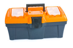 Isolerad toolbox Royaltyfri Fotografi