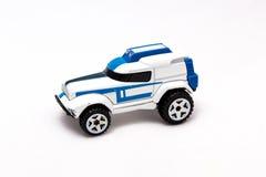 isolerad toywhite för bakgrund bil arkivfoto