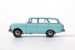 isolerad toywhite för bakgrund bil Royaltyfria Foton