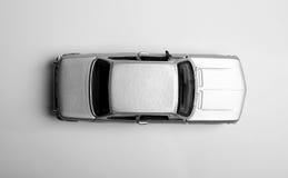 isolerad toywhite för bakgrund bil Royaltyfri Foto