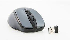 Isolerad trådlös mus för dator Arkivfoton