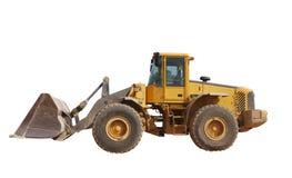isolerad traktor Arkivfoto