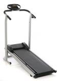 isolerad treadmill Royaltyfri Bild